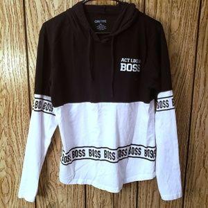 On Fire Act Like A Boss Womens Sweatshirt Size XL